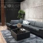 Панели под бетон для отделки стенда МК Андреа на мебельной выставке