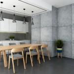 Панели под бетон светлые в интерьере