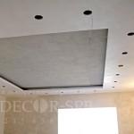 Венецианская штукатурка и декоративная штукатурка под бетон на потолке