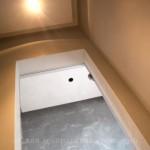 Декоративная штукатурка под бетон в отделке санузлов