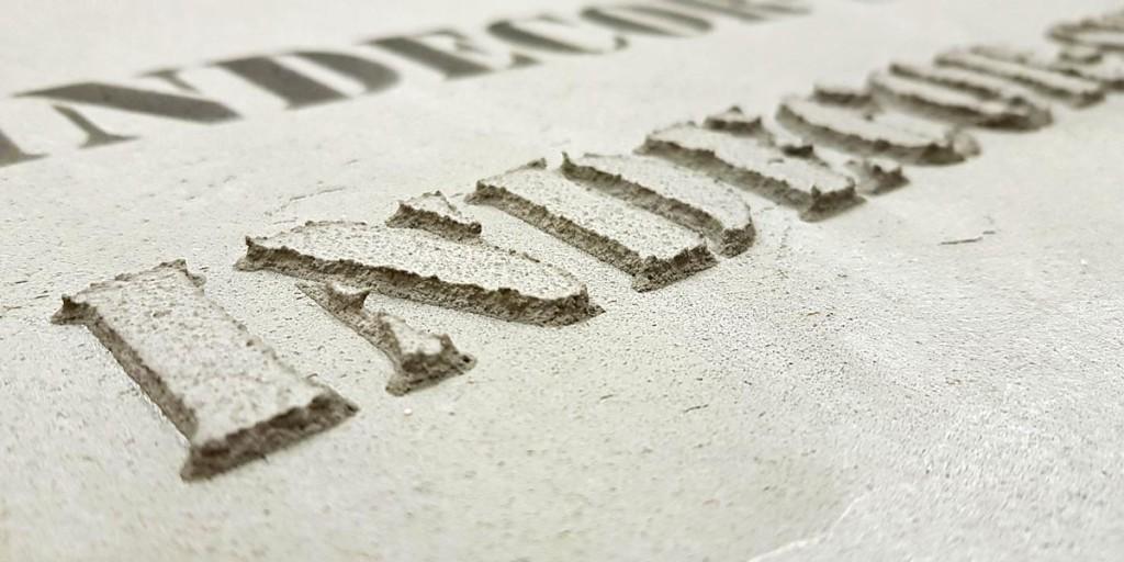 Панели под бетон с логотипом
