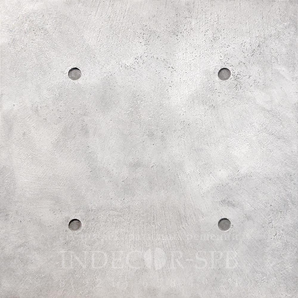 Панели под бетон серебристые