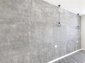 Декоративные панели под бетон Simple Grey в интерьере