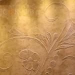 Декоративное панно из штукатурки травертин