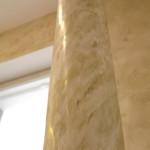 Венецианская штукатурка на круглой колонне