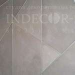Панели под бетон Art Beton многоугольники в офисе