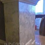 Венецианская штукатурка на квадратной колонне