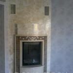 Венецианская штукатурка под мрамор на камине