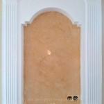 Венецианская штукатурка в нише архитерия