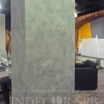 Декоративная штукатурка под бетон в кафе