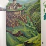 Декоративное панно и роспись в ресторане