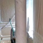 Отделка колонн венецианской штукатуркой Оникс