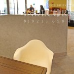 Декоративная штукатурка травертин серый цвет для отделки кафе
