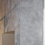 Декоративная штукатурка под бетон в шоуруме