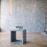 Декоративная штукатурка под бетон в фотостудии