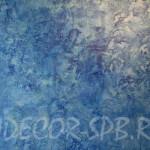 Декоративная штукатурка Патина - золото с синим